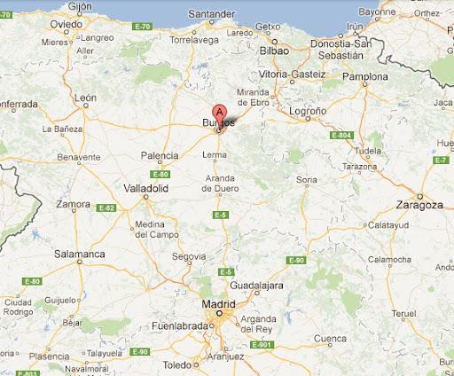mapa de espanha burgos O que fazer em Burgos, na Espanha mapa de espanha burgos
