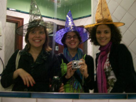 Foto de Halloween no banheiro do Burguer King, em Granada