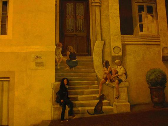 Entrando no trompe l'oeil, em Montpellier
