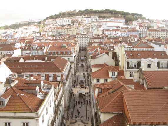 Vista do topo do Elevador de Santa Justa