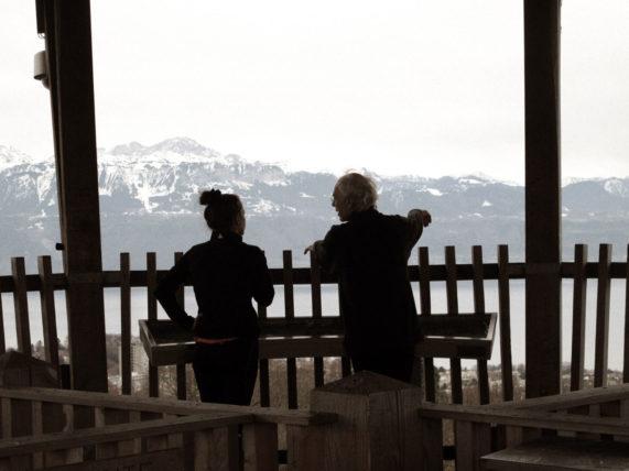 pai e filha no topo da torre :)