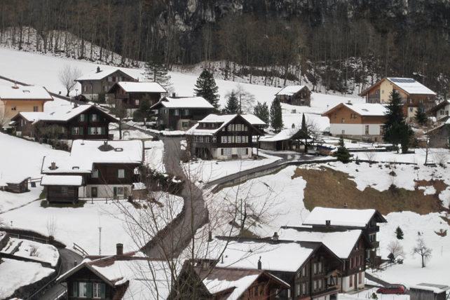 Chegando em Stechelberg...