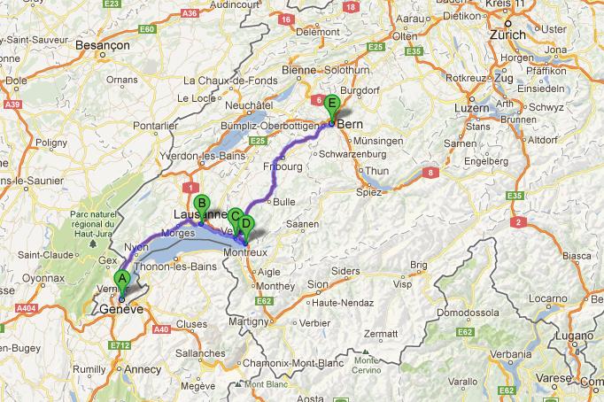 começamos pela Suíça, onde nos deparamos com paisagens dignas de cartão postal :)