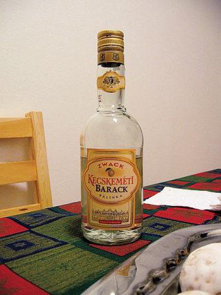 Uma garrafa de Pálinka. Vai encarar? Foto: Guus Bosman (Wikimedia Commons)