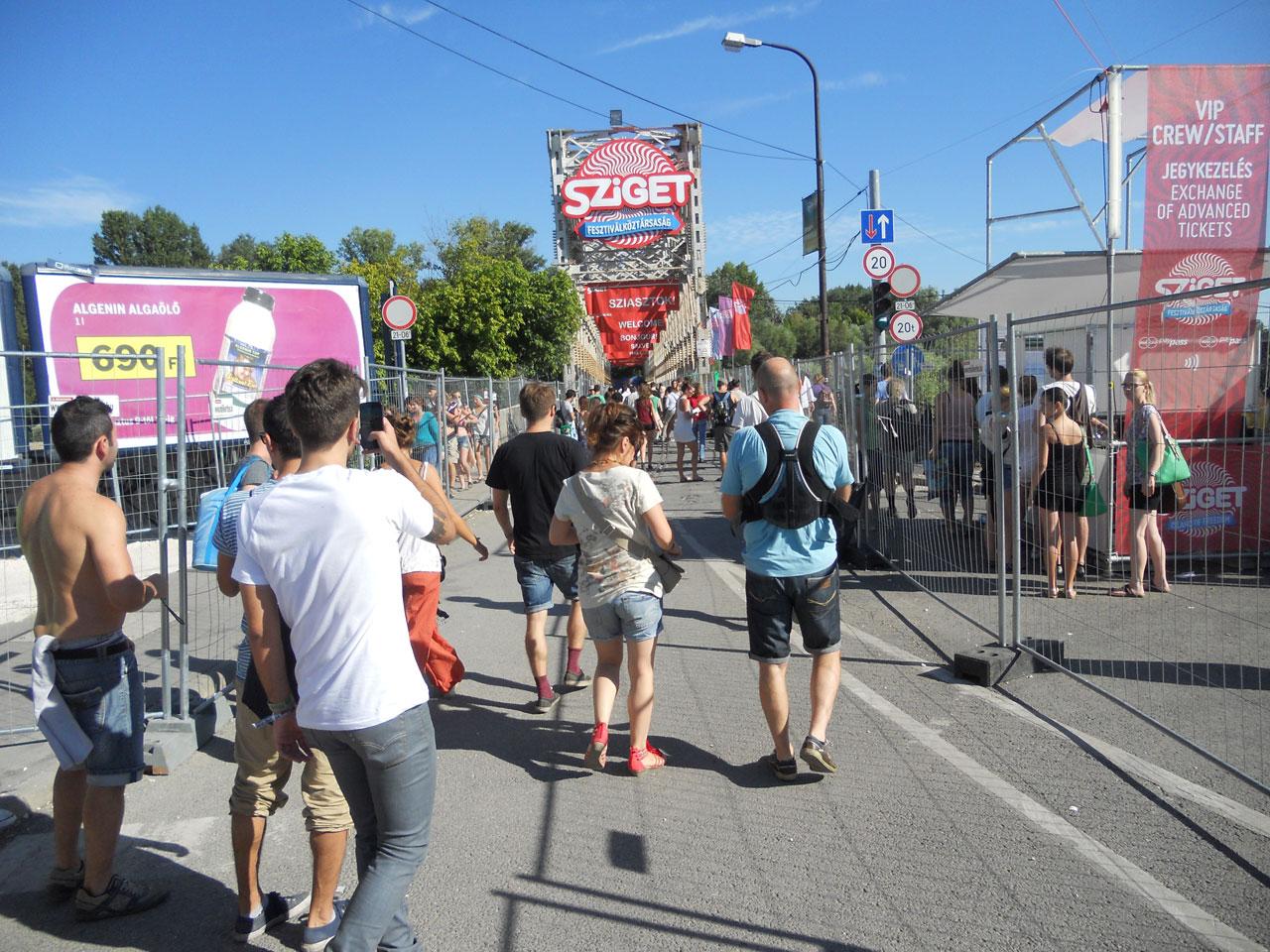 Chegando no Sziget 2013