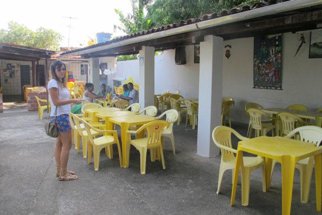 O restaurante. E minha amiga Renata ;)
