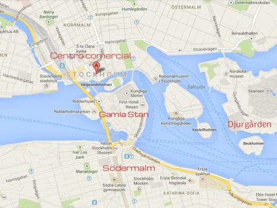 Nesse mapa do amigo Google Maps você vê as principais partes da cidade