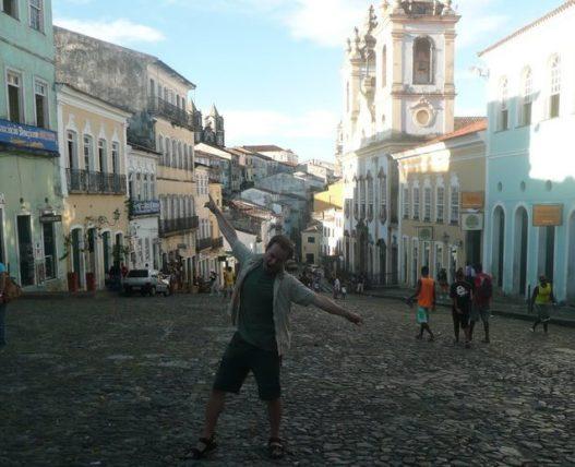Benny arrasando em Salvador ;) Foto: Benny Lewis/Fluent in Three Months