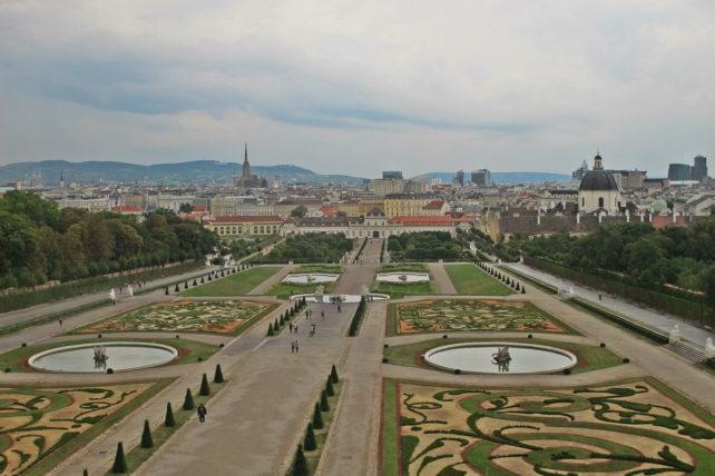 A vista do Upper Belvedere