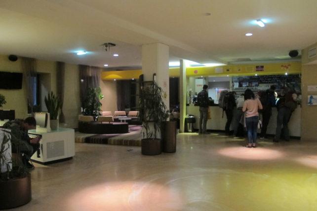Recepção do hostel